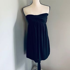 NWT Black Strapless Cover Up